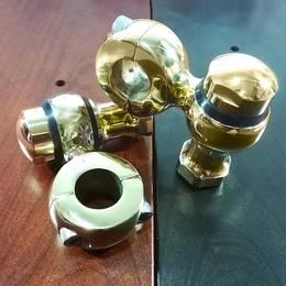 真鍮製 ショートドグボーン ハンドルライザー ポスト 1インチハンドル用 ハーレー スポーツスター ダイナ