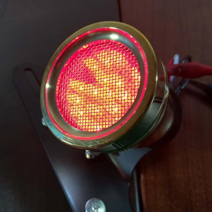真鍮製 ホーンテールランプ LED ナンバー灯あり ブラス SR ドラッグスター レブル