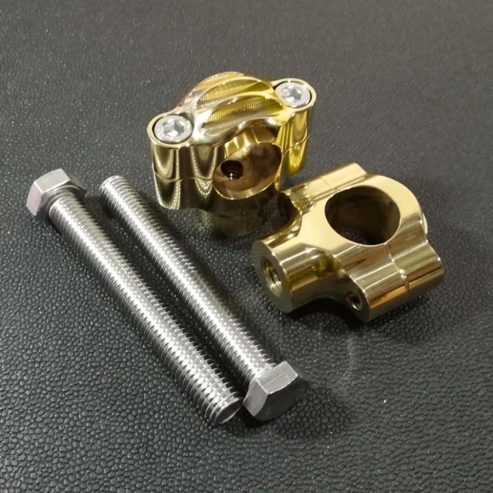 真鍮製 ハンドルライザー type1 ブラス 1インチハンドル用 ドラッグスター マグナ スティード W650 W800