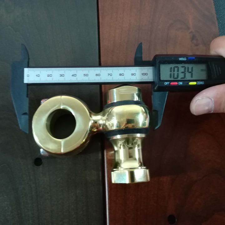 真鍮製 ショートドグボーン ハンドルライザー ポスト 1インチハンドル用 ドラッグスター マグナ スティード W650