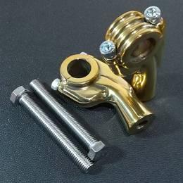 真鍮製 ハンドルライザーロング ポスト 1インチハンドル用 ドラッグスター マグナ スティード W650 W800