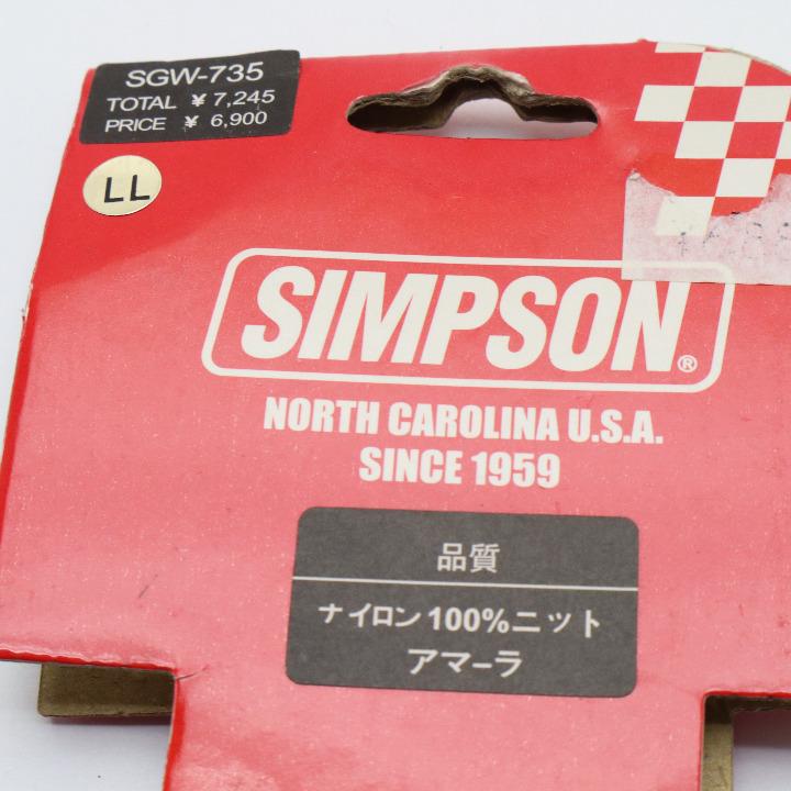未使用品 SIMPSON ナイロングローブ LLサイズ