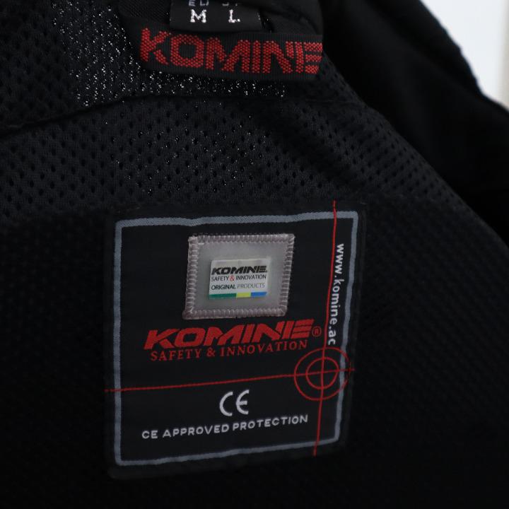 新品未使用 コミネJK-103 PROTECT M-JKT      BLK/RED Lサイズ
