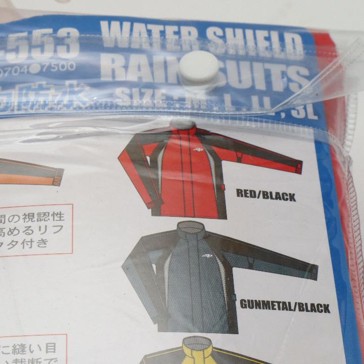 新品未使用 レインスーツ SPR-553 Mサイズ 赤/黒