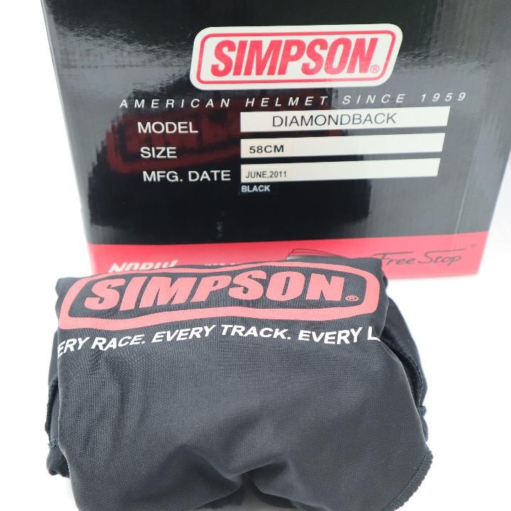 茶ミ SIMPSON ダイヤモンドバック ブラック サイズ58