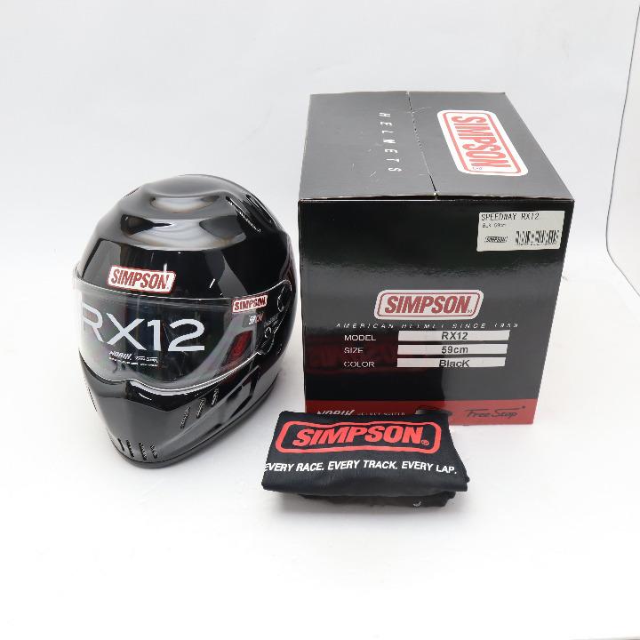 茶ミ SIMPSON SPEEDWAY RX12  ブラック サイズ 59