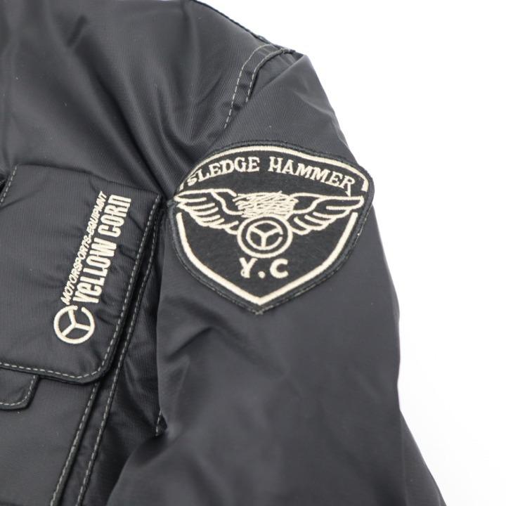 YELLOW CORN ナイロンジャケット YB-4300 ブラック LL