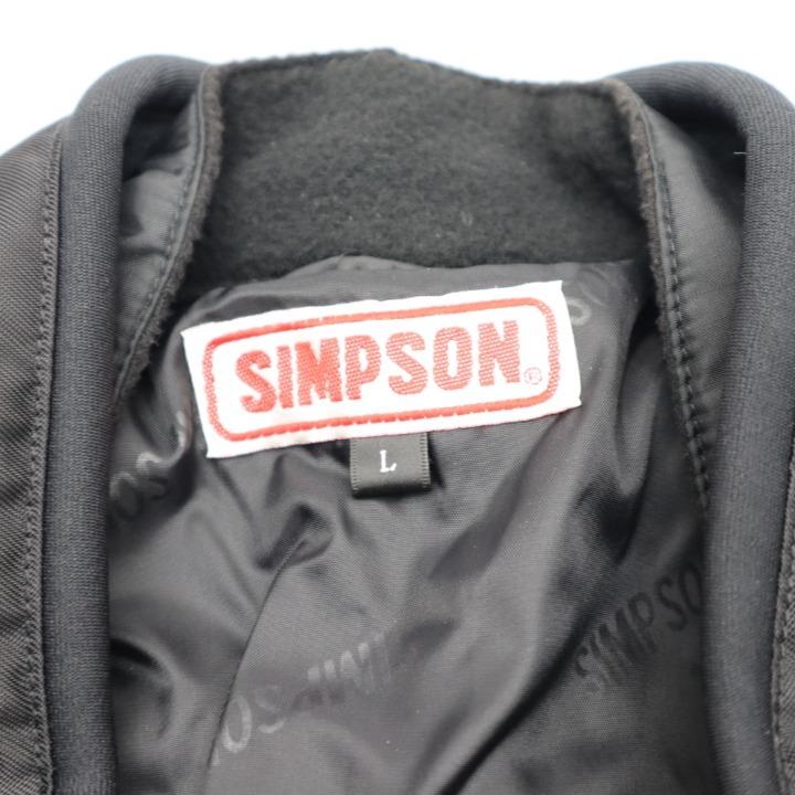 SIMPSON SJ-2132 ナイロンジャケット ブラック/レッド L