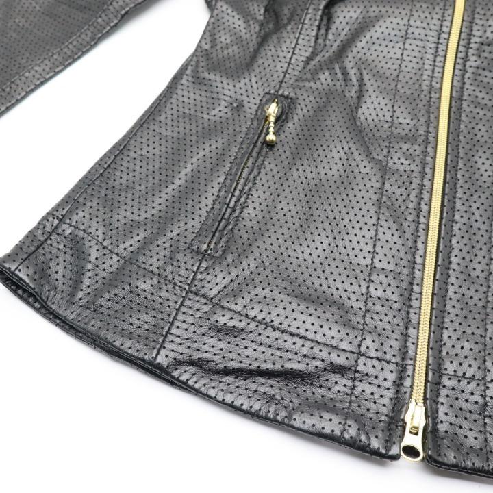 KADOYA MF-LRG パンチングジャケット ブラック レディースSサイズ カドヤ