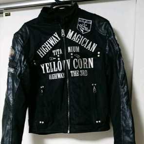 YeLLOW CORN メッシュチタンプレートジャケット L