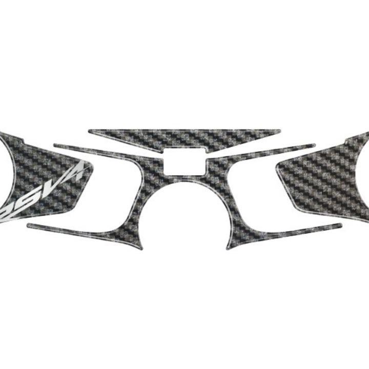 アプリリアRSV4 09-16 トップブリッジステッカー カーボン柄