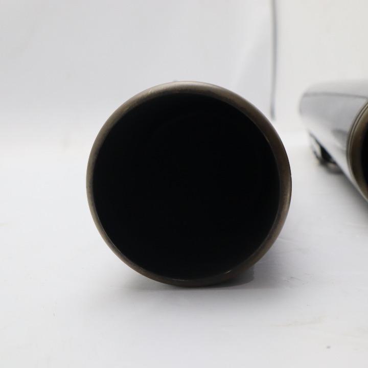 ソフテイル 黒 FLSTSB モーターステージ スリップオンマフラー ブラス76 ストレート
