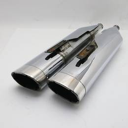 ハーレー ツーリングモデル VANCE&HINES F モンスターオーバル スリップオン マフラー バンスアンドハインツ