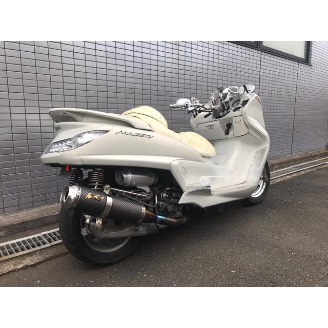 【YAMAHA グランドマジェスティ】オールホワイトカラー!!鉄板カスタム!!