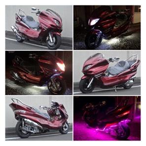 【YAMAHA マジェスティ】LEDは、2カラー!!ホワイトorピンクに切り替え可能!!