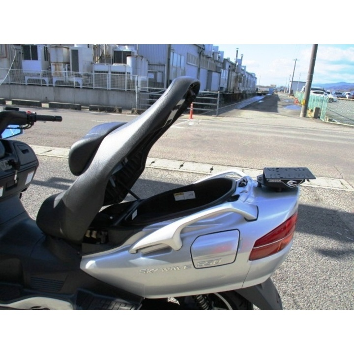 スカイウェイブ650 大型スクリーン ヨシムラマフラー 純正グリップヒーター付