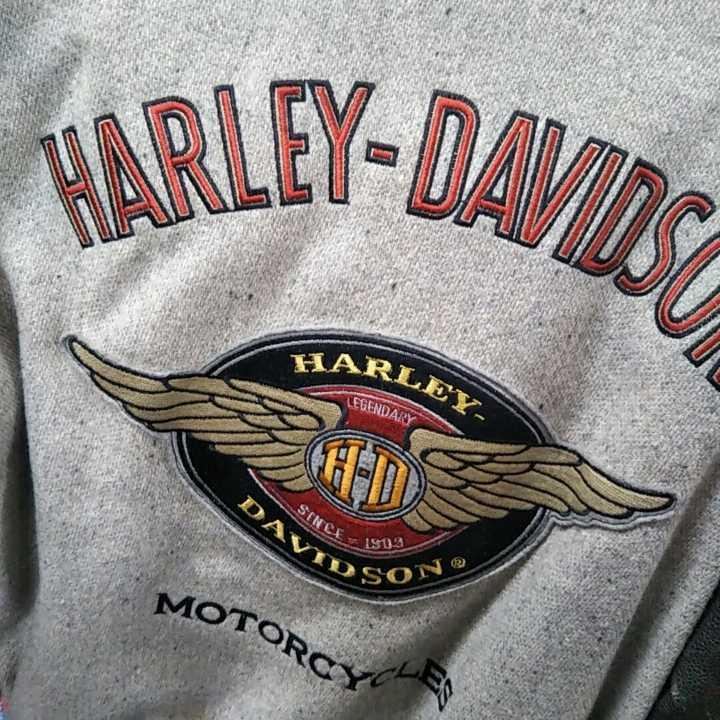 HARLEY ハーレー 革ジャン スタジャン Mサイズ USED