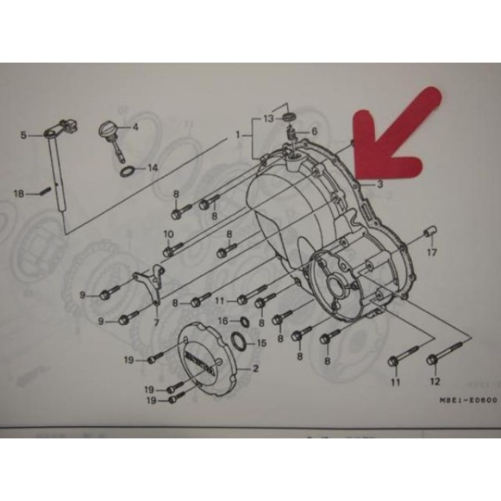 CB400スーパーフォア/CB400スーパーボルドール NC39-100~110 R.クランクケースカバー ガスケット