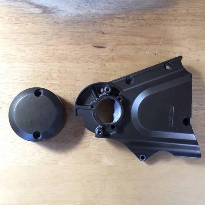ZRX 1200 純正 クラッチシリンダーカバー、スプロケットカバー