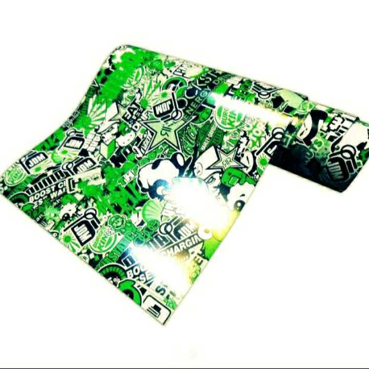 ステッカーボム ロングサイズ グリーン JDM USDM ヘラフラ デカール