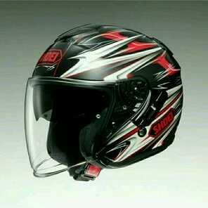ジェットヘルメット シールド付き J-CRUISE CLEAVE TC-1 レッド/ブラック M