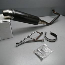 アドレスV125/G/S 社外 カーボンルックマフラー フルエキ