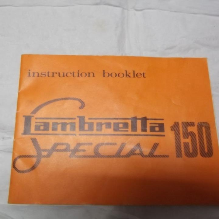 中古 ランブレッタ 150 Special オーナーズマニュアル INSTRUCTION BOOKLET Lambret