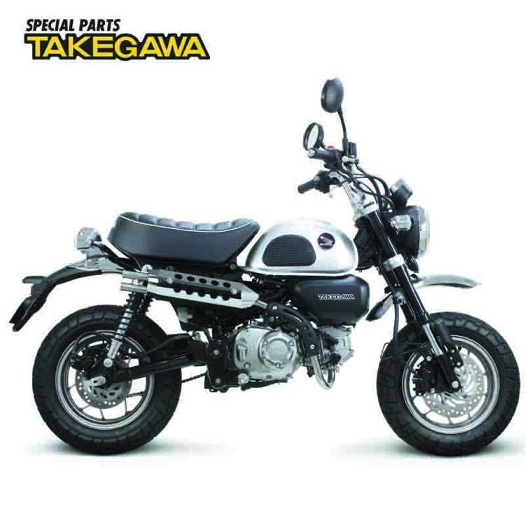 モンキー125 スペシャルパーツ武川 RSスポーツマフラー(メッキ)