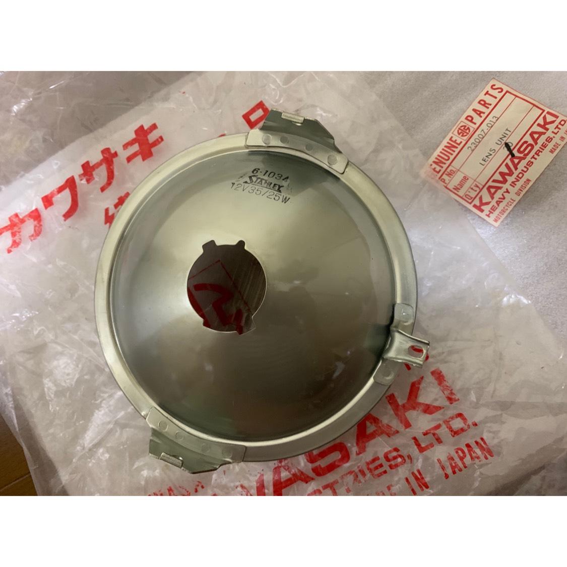 新品未使用純正当時物!500SS H1B ヘッドライト レンズ 23007-013 マッハ/H1/H1A