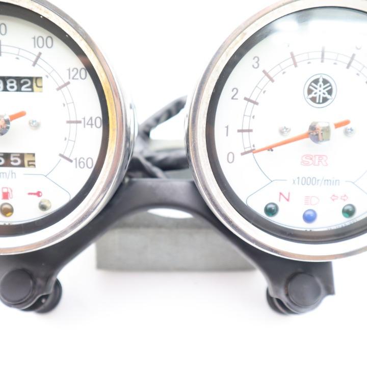 YAMAHA SR400 純正 スピードメーター/タコメーター ASSY ステー付き