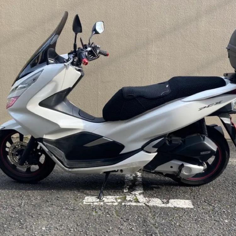 神奈川 ホンダ 低走行車 2019 PCX125 JF81 ホワイト
