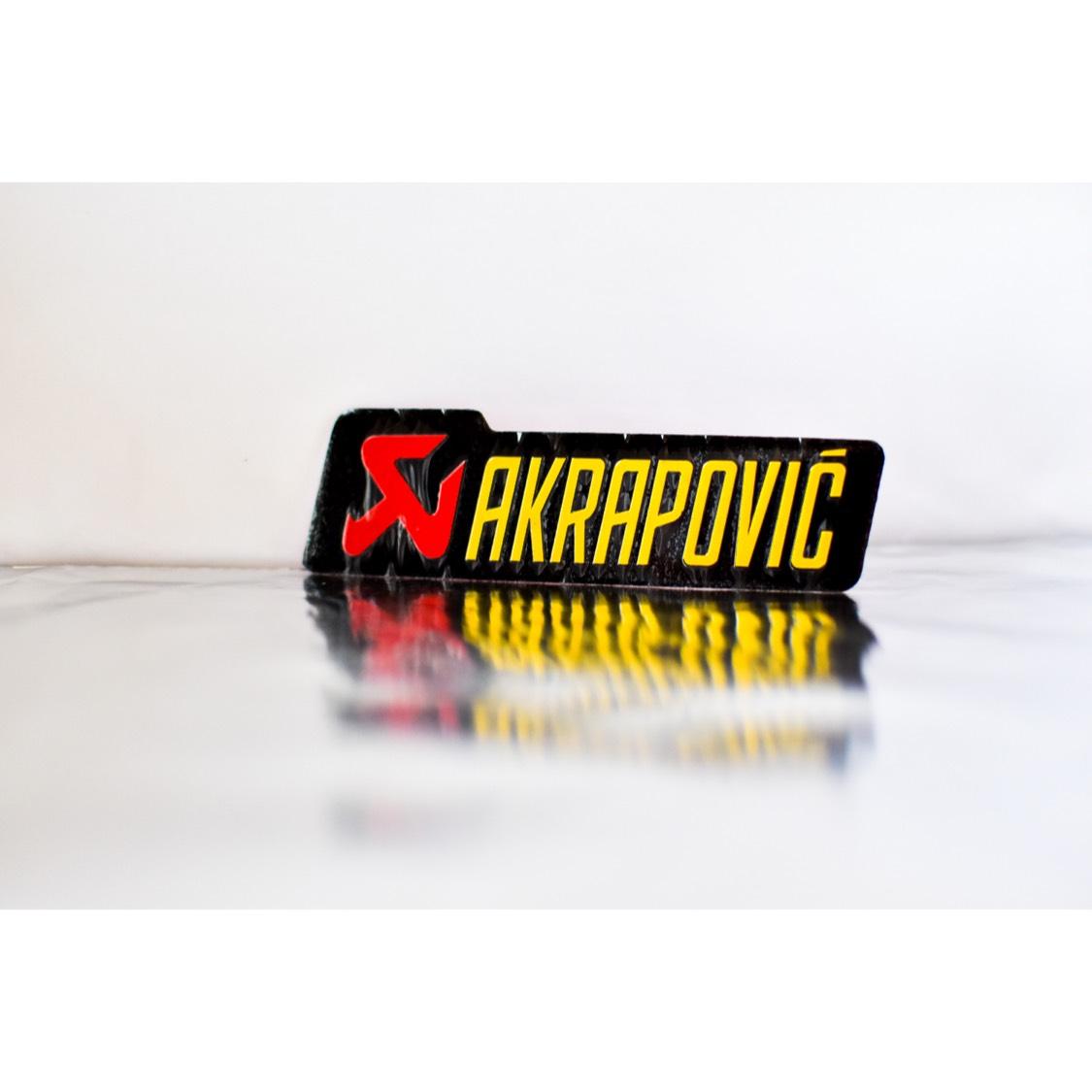 【数量限定】AKRAPOVIC アルミ耐熱 ステッカー 新品!