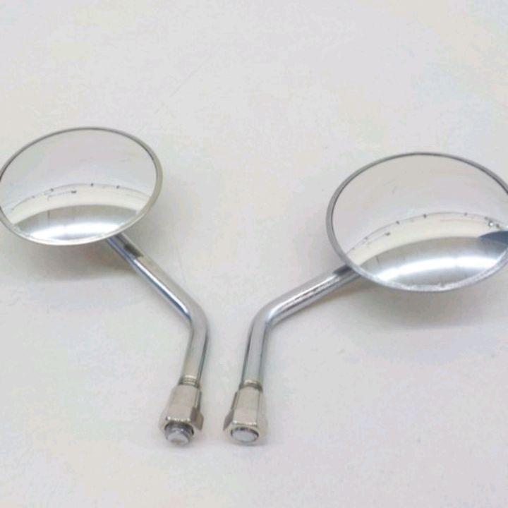 丸型ミニサイズバックミラー左右セット 凸レンズ