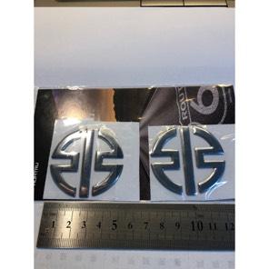 カワサキ リバーマーク 3D ステッカー シルバー