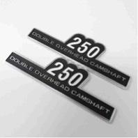 KAWASAKI カワサキ サイドカバーエンブレム Z2タイプ 250 貼り付けタイプ